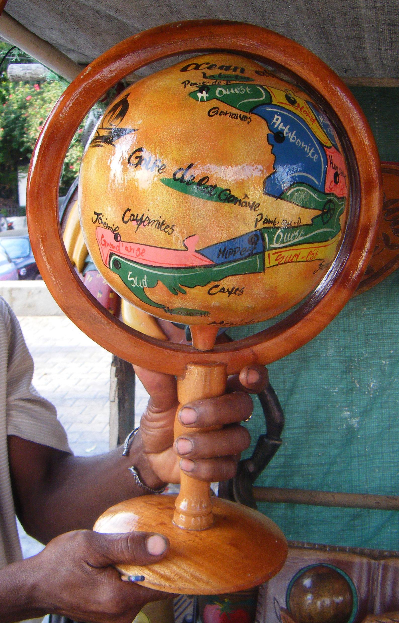 Glob Din Lemn Cu Harta Haiti Originale Home Decor 124 00 Lei